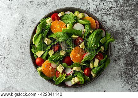 Delicious Healthy Salad With Vegetables