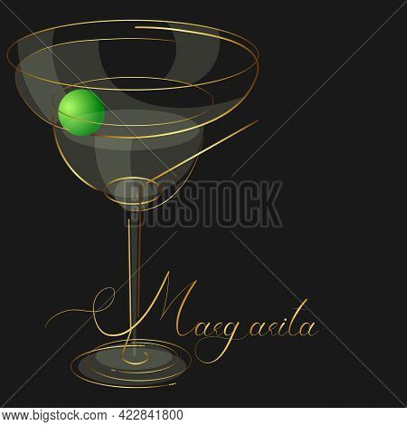 Margarita Cocktail Logo For Menu Or Wine List Of Restaurant Or Bar