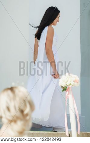 Kerch Russia - September 9 2019 - Festival Of Brides, A Holiday Of All Brides And Wedding Dresses. A