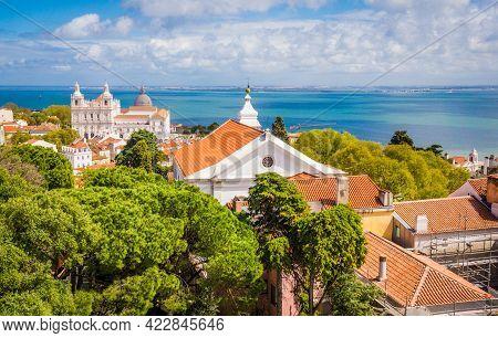 View Of Sao Vicente De Fora Church From Sao Jorge Castle, Lisbon, Portugal