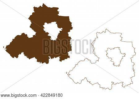 Saalekreis District (federal Republic Of Germany, Rural District, Free State Of Saxony-anhalt) Map V
