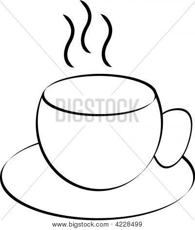 Coffee Mug Outline