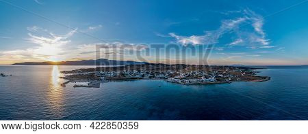 Greece, Pano Koufonisi Small Cyclades Island, Aerial Drone Panoramic View