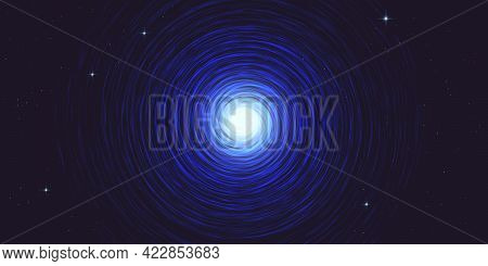 Blue Spiral Galaxy Milky Way Abstract Background Vector Illustration