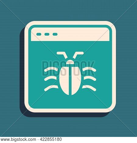 Green System Bug Concept Icon Isolated On Green Background. Code Bug Concept. Bug In The System. Bug