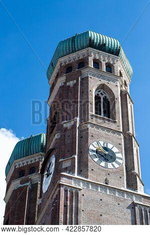 Women's Towers In Munich, Bavaria, Tower, Sky
