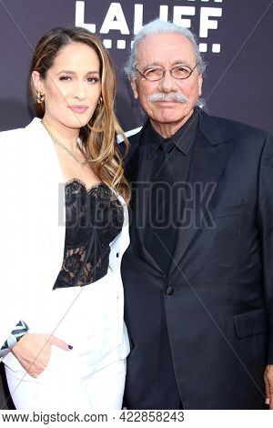 LOS ANGELES - JUN 2:  Jaina Lee Ortiz, Edward James Olmos at the 7th and Union Premiere  at the TCL Chinese Theater IMAX on June 2, 2021 in Los Angeles, CA