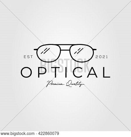 Optical Glasses Logo. Eyeglass, Spectacles Logo Vector Illustration Design