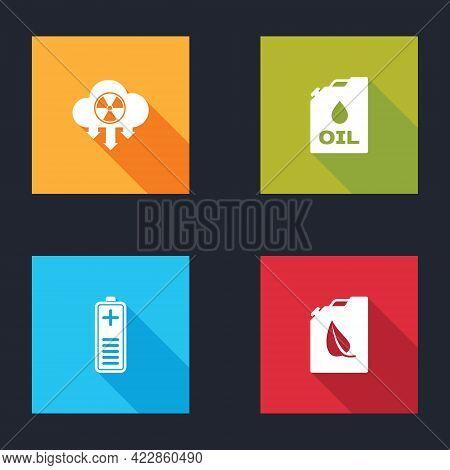 Set Acid Rain And Radioactive Cloud, Canister Machine Oil, Battery Charge Level Indicator And Bio Fu