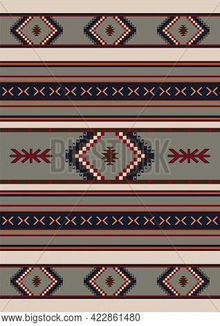 Navajo Tribal Vector Seamless Pattern. Native Indian Ornament. Ethnic South Western Decor Style. Boh