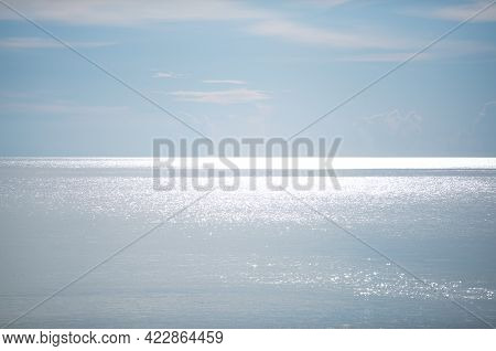 Seascape Water Sea Surface Background In Phuket Thailand Beautiful Sea In Summer Sunny Day Good Weat
