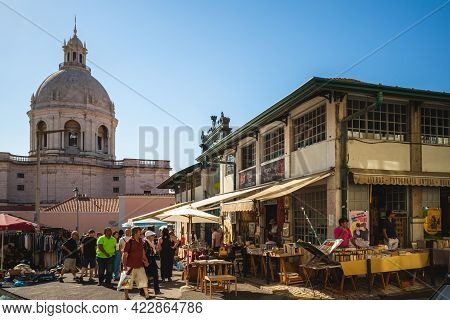 September 19, 2018: Feira Da Ladra, An Old Flea Market Takes Place On Tuesdays And Saturdays Between