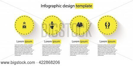 Set Tequila Bottle, Mexican Man Sombrero, Poncho And Wrestler. Business Infographic Template. Vector