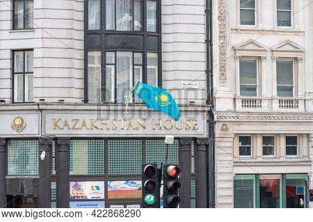 The Embassy Of Kazakhstan In London Or Kazakhstan House. Uk, London, May 29, 2021.
