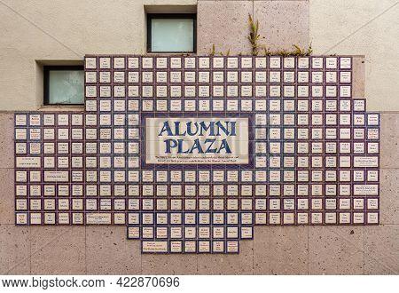 Santa Barbara, Ca, Usa - June 2, 2021: City College Facilities. Closeup Of Donor Recognition Tiles A
