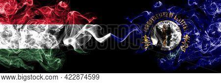 Hungary, Hungarian Vs United States Of America, America, Us, Usa, American, Kentucky Smoky Flags Sid