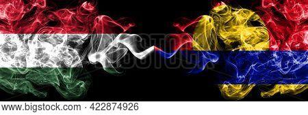 Hungary, Hungarian Vs United States Of America, America, Us, Usa, American, Palmyra Atoll Smoky Flag