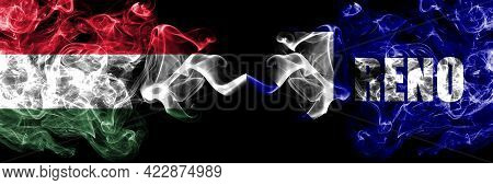 Hungary, Hungarian Vs United States Of America, America, Us, Usa, American, Reno, Nevada Smoky Flags