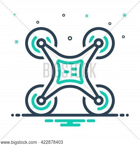 Mix Icon For Drone-technology Drone Technology Camera Aircraft Control Piloting Propeller Videograph