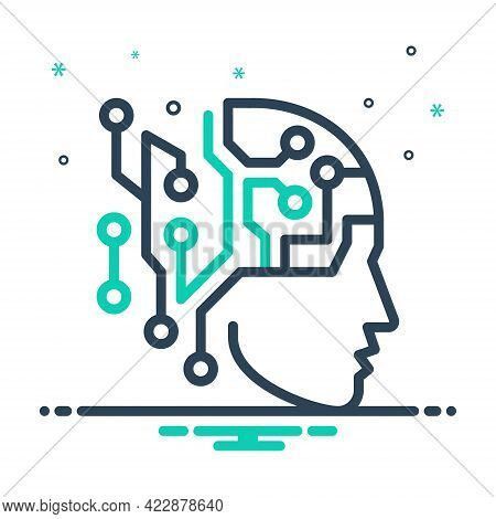 Mix Icon For Artificial-intelligence Artificial Intelligence Psychology Chip Mechanism Humanoid Ling
