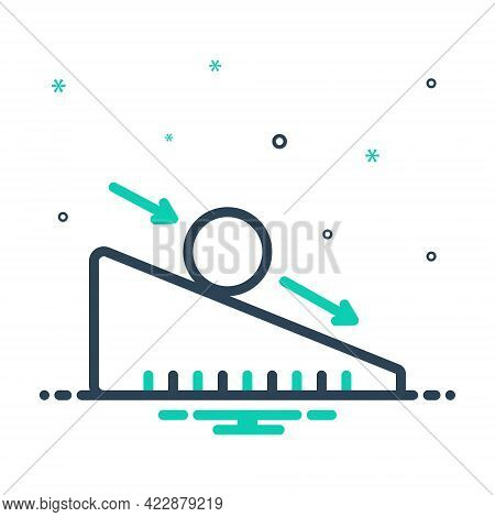 Mix Icon For Ramp Slope Trailer Accessibility Slide Down-grade Down