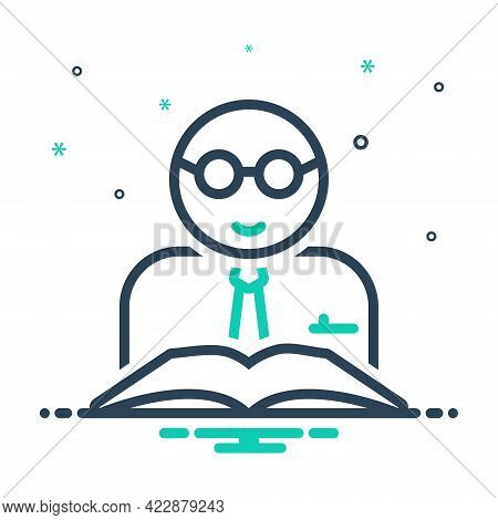 Mix Icon For Teacher Tutor Educationist Trainer Lecturer Counselor Docent Professor