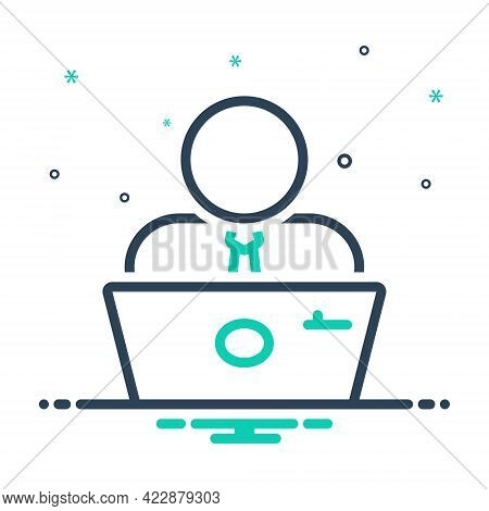 Mix Icon For Employee Practician Roustabout Attendant Salesperson Hireling Shopman Worker Agent Staf