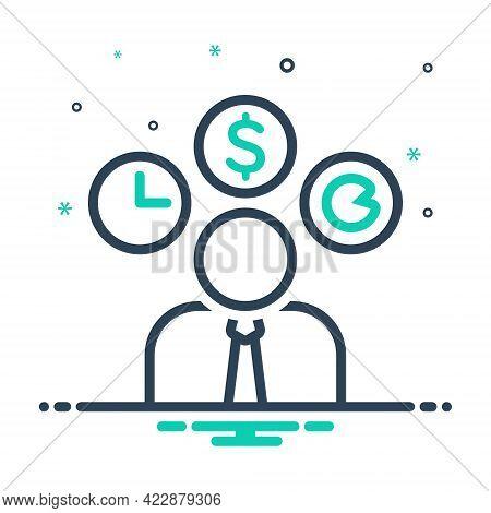 Mix Icon For Entrepreneur Dealmaker Hustler Professional Professed Occupational Business-man Distrib