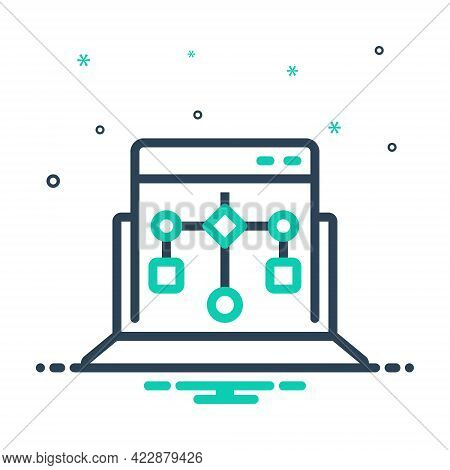 Mix Icon For Program Algorithm Cyberspace Networking Cloud Hosting Organization Authentication Conne