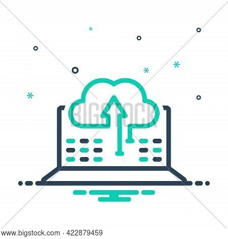 Mix Icon For Sync Of Data Information Transfer Update Backup Synchronize Directory Storage