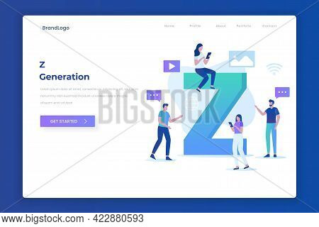 Z Generation Landing Page Illustration Concept