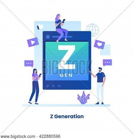 Flat Design Of Z Generation Concept