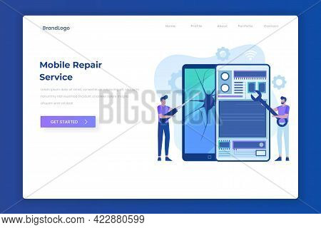 Mobile Repair Service Landing Page Concept