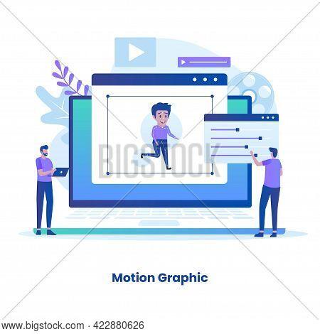 Flat Design Motion Graphic Concept