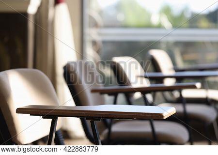 Empty Examination Room In Educational Institution Closeup