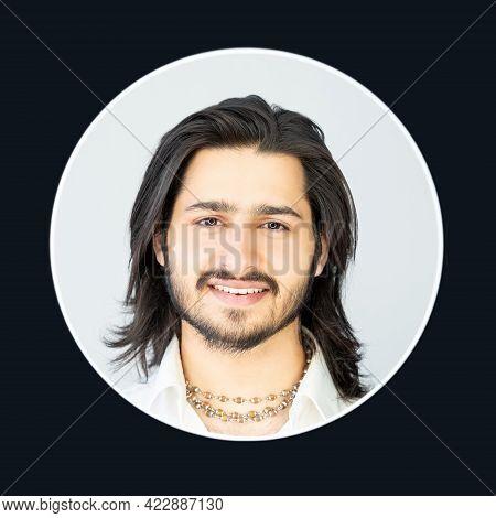 Handsome Man. Positive Male Portrait. Masculine Beauty. Successful People. Model Shooting. Happy Bru