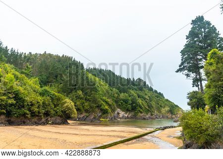 The Beach Of The Ea Municipality Near Lekeitio, Bay Of Biscay In The Cantabrian Sea. Basque Country