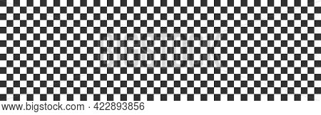Checker Pattern. Race Long Background. Chess Template. Competition Banner. Square Floor Design. Whit