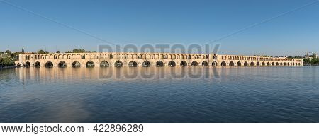 Isfahan, Iran - May 2019: Allahverdi Khan Bridge Also Known As Si-o-se-pol Bridge, One Of The Oldest