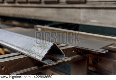 Sheet Metal Product After Processing On A Bending Machine.