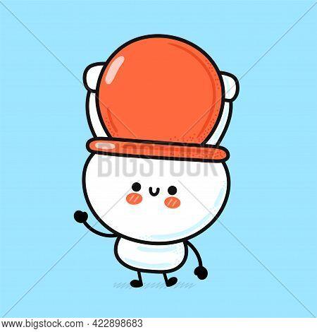 Cute Funny Happy White Toilet Bowl. Vector Hand Drawn Cartoon Kawaii Character Illustration Icon. Fu
