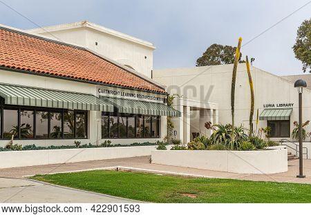 Santa Barbara, Ca, Usa - June 2, 2021: City College Facilities. Cartwright Learning Resources Center