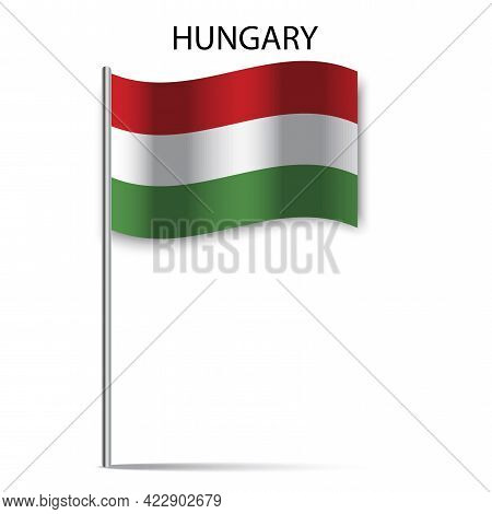 Hungary Flag Stick, Great Design For Any Purposes. National Flag Graphic Design. Vector Illustration