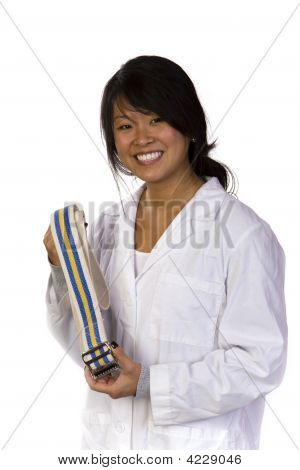 Professional Physical Therapist With A Gait Belt
