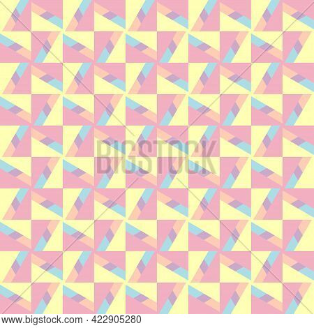 Stylish Abstract Pastel Seamless Background, Endless Texture Can Be Used For Wallpaper, Pattern Fill