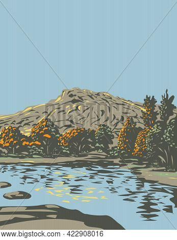 Wpa Poster Art Of Barker Dam Within The Wonderland Of Rocks In Joshua Tree National Park Located In