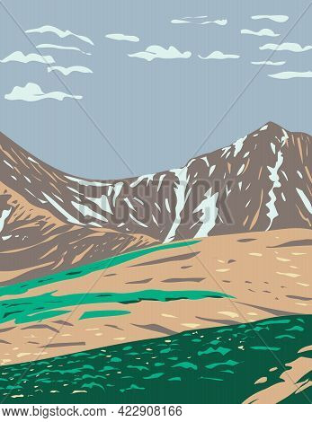 Wpa Poster Art Of Grays Peak And Torreys Peak In The Continental Divide Within In The Rocky Mountain