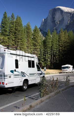 Motorhome, Motorcoach, Rv, Yosemite, National ,Park