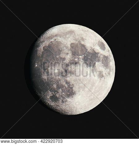 Closeup of the Moon mockup