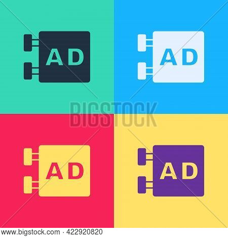 Pop Art Advertising Icon Isolated On Color Background. Concept Of Marketing And Promotion Process. R